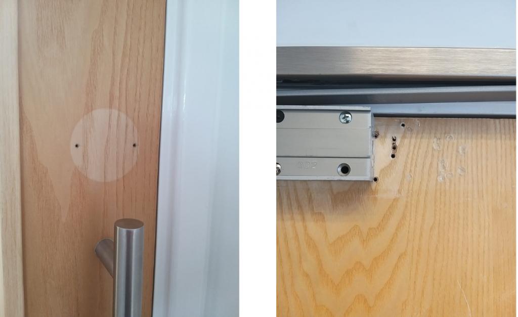 Fire Door with holes, fire door inspection